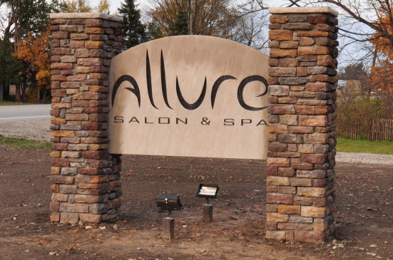 Allure Salon & Spa commercial construction